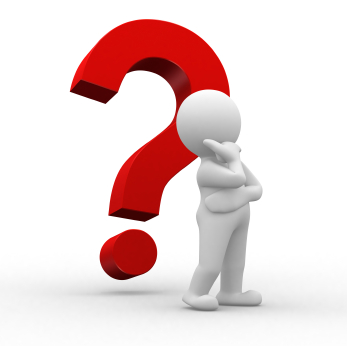 Vector image of man pondering a question